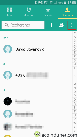 Android - Liste des contacts