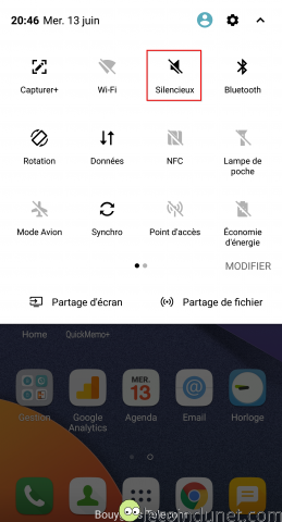 Android - Raccourci activation mode silencieux