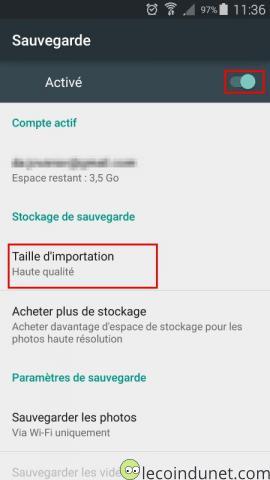 Android - Sauvegarde photos