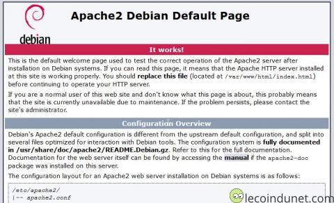 Debian - Apache it works