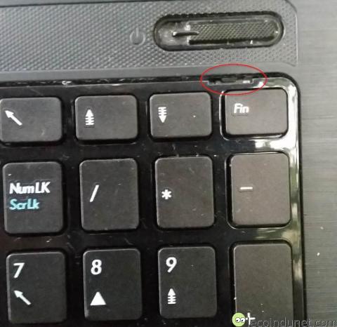 PC Portable Asus - Gros plan encoche clavier