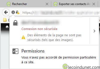 Eléments non sécurisé HTTPS