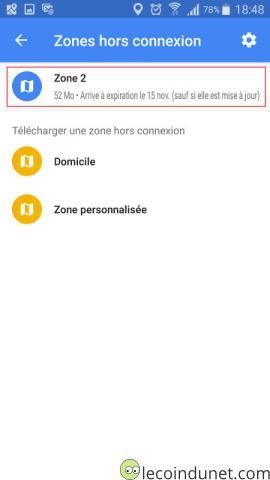 Google Maps - Editer zone