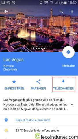 Google Maps - Télécharger une carte hors ligne