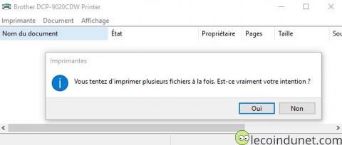 Windows 10 - Confirmation Imprimer plusieurs fichiers