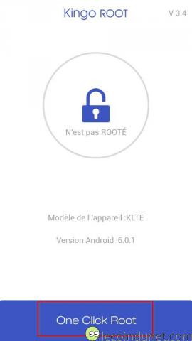 Kingo root - one click root