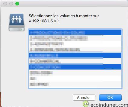 Mac - Liste des lecteurs réseaux