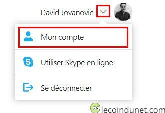 Skype - Mon compte
