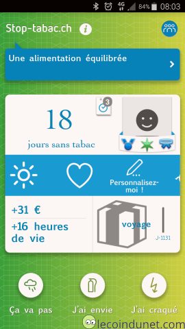 Application Stop Tabac sur Android