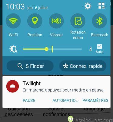 Twilight - Notifications