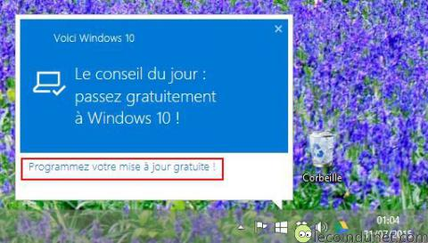 Windows 10 - Proposition installation mise à jour