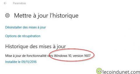 Windows 10 - miseà jour 1067