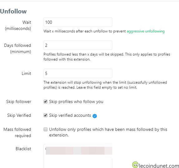 Twitter - Mass follow for twitter unfollow settings