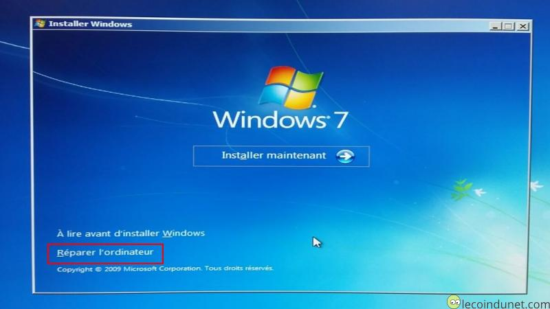 Les <b>outils</b> <b>de</b> <b>réparation</b> <b>de</b> <b>Windows</b>