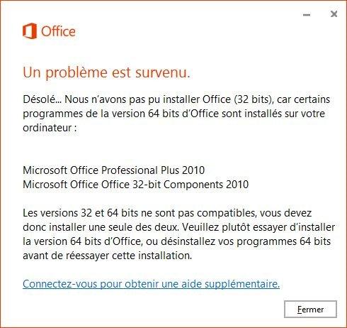 un problème est survenu lors de l'installation du matériel Windows XP