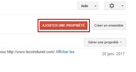 Ajouter une propriété https dans Google Search Console
